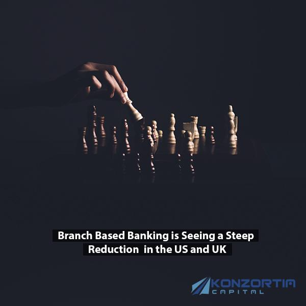 Branch Based Banking is Seeing a Steep Reduction in the US and UK. This is How Konzortia Capital fits in this context.